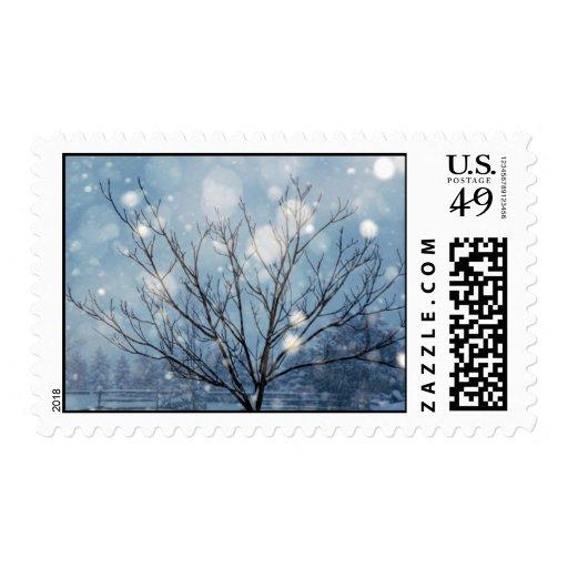 Árbol de la nieve sello