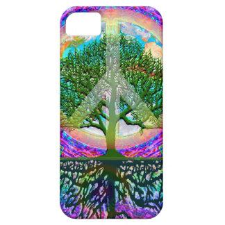 Árbol de la paz de la vida iPhone 5 Case-Mate cárcasas
