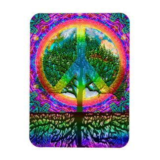 Árbol de la paz de la vida imanes de vinilo