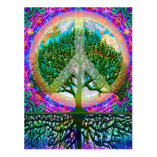 Árbol de la paz de la vida postales
