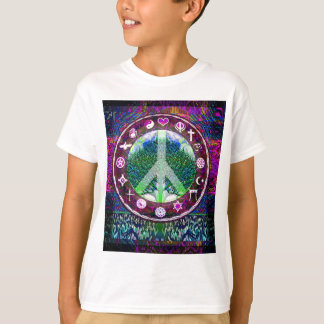 Árbol de la paz de las religiones del mundo de la playera