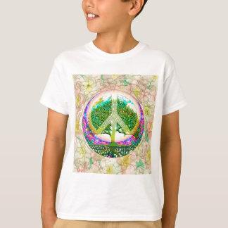 Árbol de la paz de mundo de la vida playera