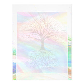 Árbol de la paz ligera membrete personalizado