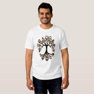 Árbol de la paz - negro y oro poleras