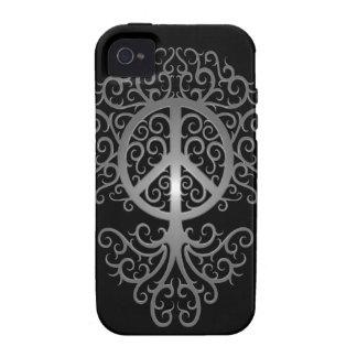 Árbol de la paz, oscuro iPhone 4 carcasas
