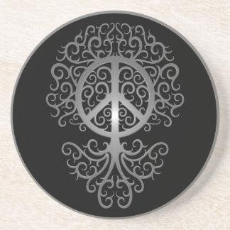 Árbol de la paz oscuro posavasos manualidades