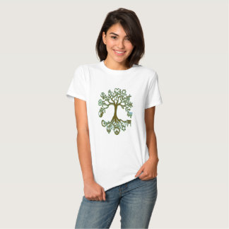 Árbol de la paz - verde y Brown Remeras