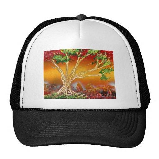 Árbol de la pintura de aerosol contra v1 anaranjad gorras de camionero
