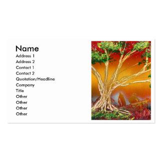 Árbol de la pintura de aerosol contra v1 anaranjad tarjetas personales
