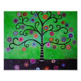 Árbol de la pintura de la vida cojinete