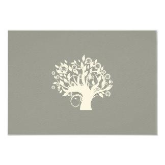 """Árbol de la plata hebrea de RSVP del boda judío de Invitación 3.5"""" X 5"""""""