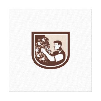 Árbol de la poda del jardinero del Orchardist del  Impresión En Lona Estirada
