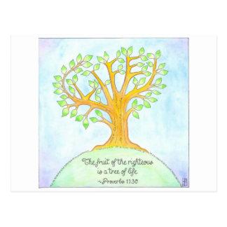 Árbol de la postal inspirada de la vida