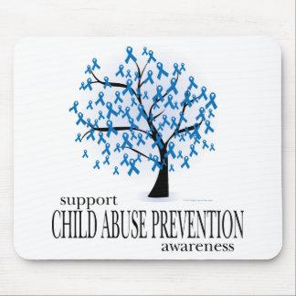 Árbol de la prevención de la pederastia alfombrillas de ratones