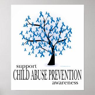 Árbol de la prevención de la pederastia póster