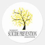 Árbol de la prevención del suicidio pegatinas redondas