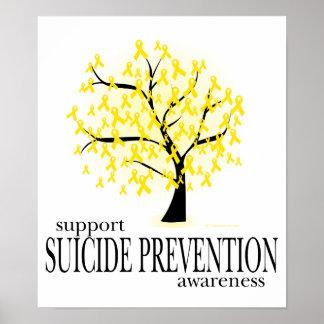 Árbol de la prevención del suicidio póster