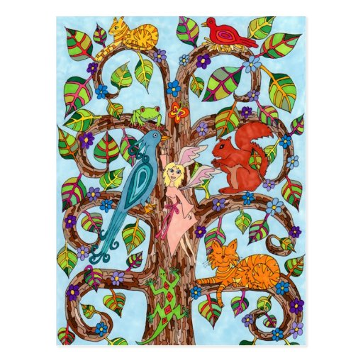 Árbol de la primavera de la vida tarjetas postales