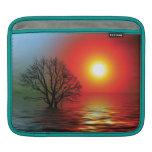 Árbol de la puesta del sol fundas para iPads