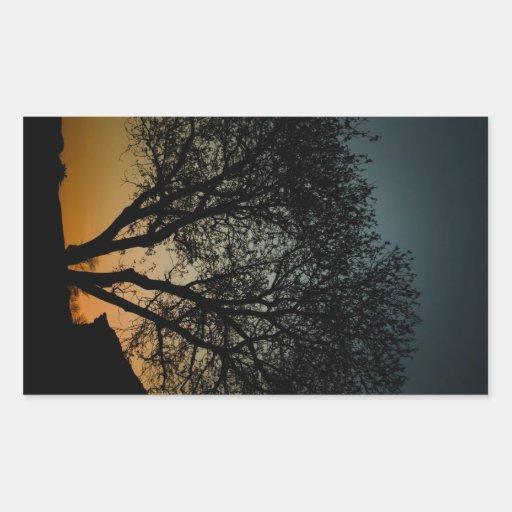 Árbol de la puesta del sol rectangular altavoces