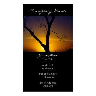 Árbol de la puesta del sol tarjetas de visita