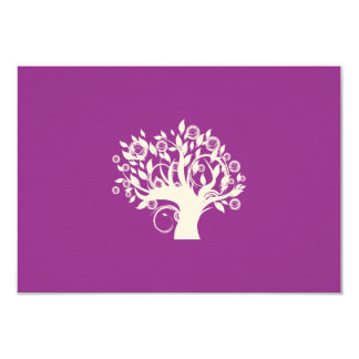 Árbol de la púrpura hebrea de RSVP del boda judío Invitaciones Personalizada