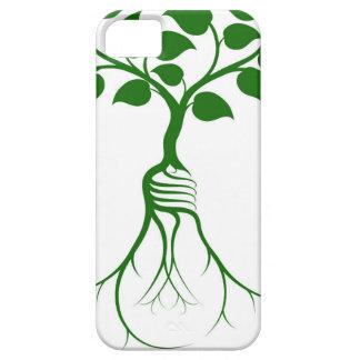 Árbol de la raíz de la bombilla iPhone 5 fundas