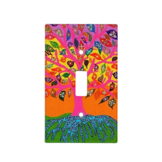 Árbol de la raíz de la vida del interruptor de la  cubiertas para interruptor