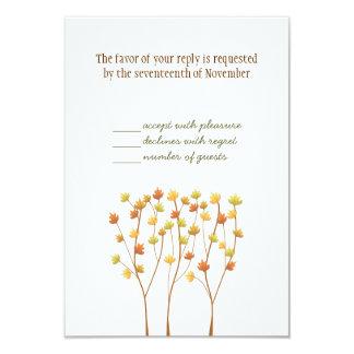 Árbol de la ramita de la caída - tarjeta de la invitación 8,9 x 12,7 cm
