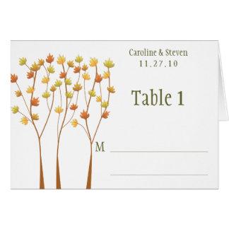 Árbol de la ramita de la caída - tarjeta de la tab