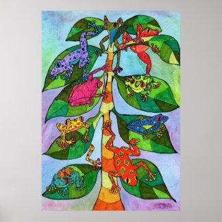Árbol de la rana de Oaxacan de la vida Poster