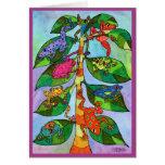 Árbol de la rana de Oaxacan de la vida Tarjeton