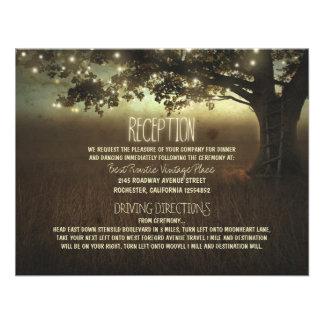 árbol de la recepción nupcial rústica de las luces invitacion personal