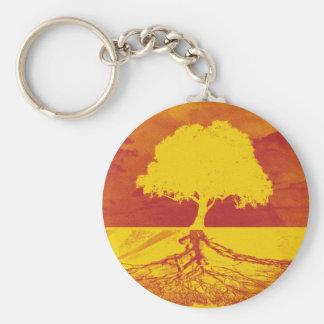 Árbol de la relajación de la vida llavero redondo tipo pin