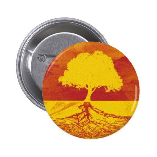 Árbol de la relajación de la vida pin redondo 5 cm