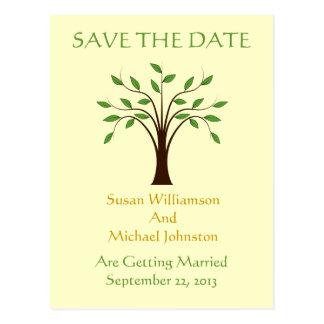 Árbol de la reserva del boda de la vida el tarjeta postal