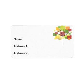 Árbol de la reunión de familia etiquetas de dirección