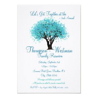 """Árbol de la reunión de familia invitación 5"""" x 7"""""""