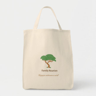 Árbol de la reunión de familia - tote del ultramar bolsa