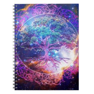 Árbol de la salud de la vida libretas espirales