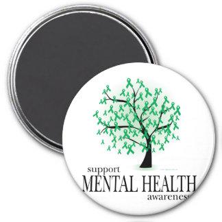 Árbol de la salud mental imán de nevera