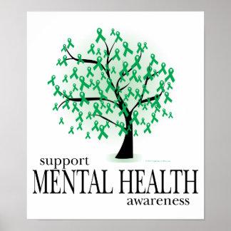 Árbol de la salud mental poster