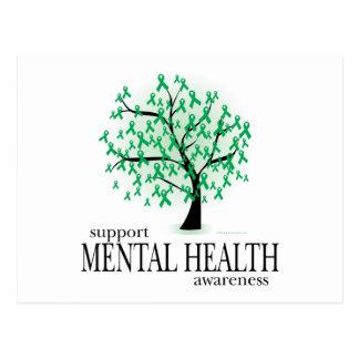 Árbol de la salud mental postales