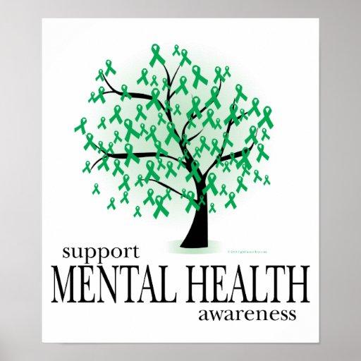 Árbol de la salud mental póster