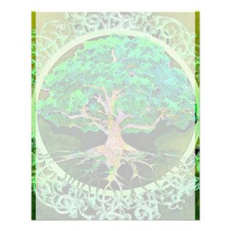 """Árbol de la salud y de la prosperidad de la vida folleto 4.5"""" x 5.6"""""""