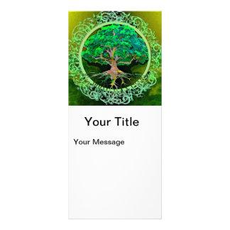 """Árbol de la salud y de la prosperidad de la vida folleto publicitario 4"""" x 9"""""""