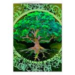Árbol de la salud y de la prosperidad de la vida tarjeta pequeña