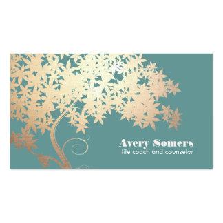 Árbol de la salud y de la salud del logotipo de la tarjeta de visita