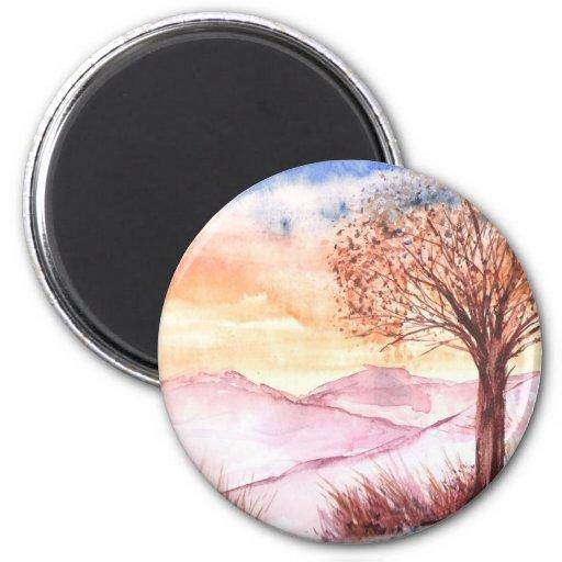 Árbol de la serenidad imán redondo 5 cm