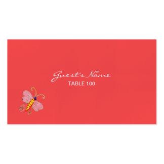 Árbol de la tarjeta 2 del lugar del boda de la tarjetas de visita